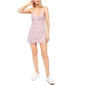 Free People Floral Lace Mini